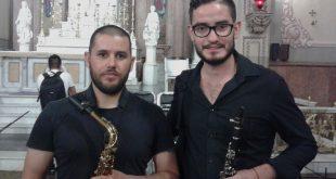 Foto: Diego y Eduardo en la Banda Sinfónica de la UdeG | Kiosco Informativo